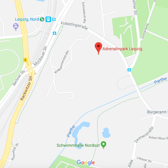Adrenalinpark Leipzig Maps